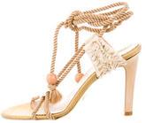 Stella McCartney Woven Metallic Sandals
