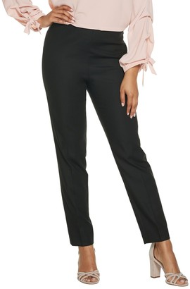 Vince Camuto Doubleweave Side Zip Straight Leg Pants