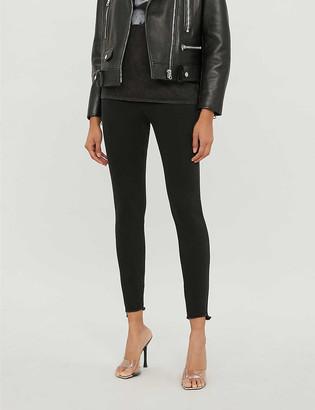 Pinko Sabrina frayed-hem skinny high-rise jeans