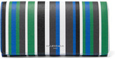 Balenciaga Striped Textured-leather Wallet - Blue