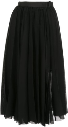Sacai Pleated Mid Skirt