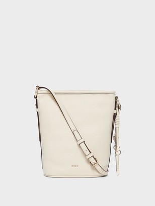 DKNY Marcy Pebbled Leather Bucket Bag