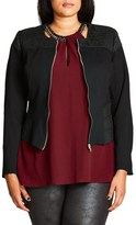 City Chic Sweet Elastic Ponte Jacket (Plus Size)