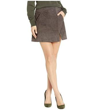 Blank NYC Suede Skirt w/ Side Slit