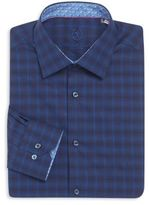 Bugatchi Regular-Fit Plaid Cotton Dress Shirt