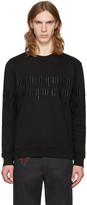 McQ by Alexander McQueen Black Embroidery Logo Pullover