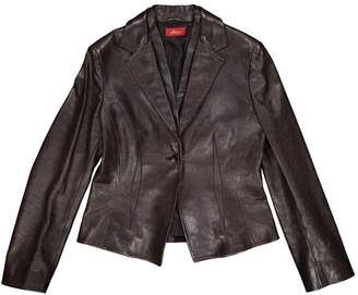 Brioni Brown Leather Jacket for Women