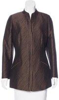 Armani Collezioni Wool-Blend Jacquard Blazer