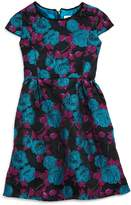 Us Angels Girls' Brocade Cap Sleeve Dress