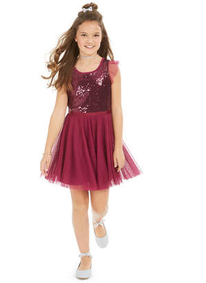 Epic Threads Big Girls Sequin Ruffle-Sleeve Party Dress