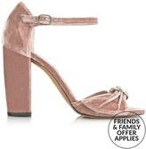 Whistles Thurza Ring Detail Velvet High Heels