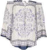 Izabel London Paisley Bardot Top