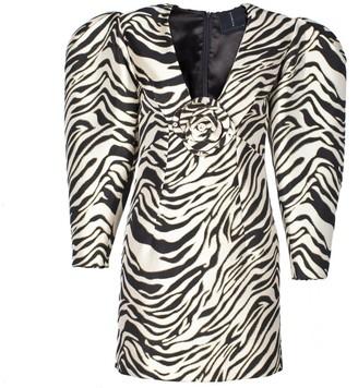 Rue Agthonis Zebra Print Diamond Dress