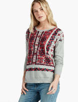 Lucky Brand Bandana Sweater Pullover