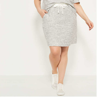 Joe Fresh Women+ Knit Tweed Skirt, Black (Size 1X)