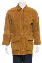 Loro Piana Suede Cashmere-Lined Coat