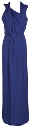 HUGO BOSS Boss By Blue Drape Detail Maxi Drapiella Dress M