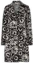 Tory Burch Rosalie Floral-intarsia Stretch-knit Coat