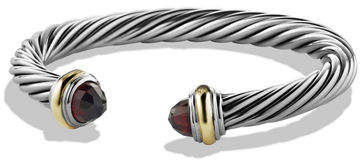 David Yurman Cable Classic Bracelet w/ Stone Ends