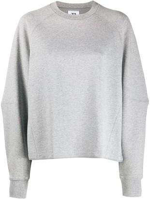 Y-3 Plain Crew Neck Sweatshirt