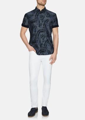 TAROCASH Indigo Canyon Print Shirt