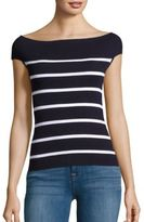 Saks Fifth Avenue Bateau Neck Stripe Sweater