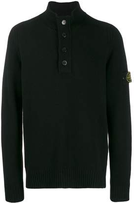 Stone Island button-up turtleneck sweater