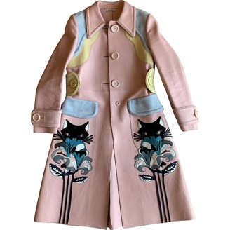 Miu Miu Pink Leather Coat for Women