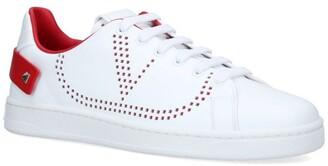 Valentino Garavani Leather Backnet Sneakers