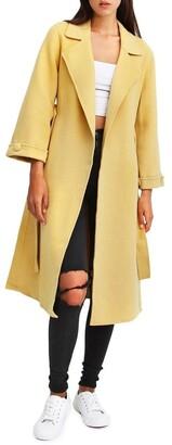 Belle & Bloom Stay Wild Maize Oversized Wool Coat