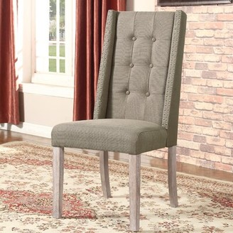 Highland Dunes Sheetz Upholstered Dining Chair Upholstery Color: Taupe
