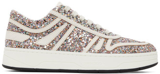 Jimmy Choo Multicolor Leather Glitter Hawaii Sneakers