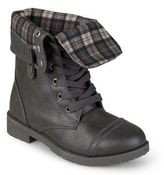 Journee Collection Duke Girls' Fold-over Combat Boots