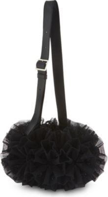 Comme des Garcons Ruffled tulle flower shoulder bag