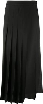 Brunello Cucinelli Asymmetric Pleated Skirt