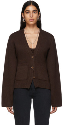 KHAITE SSENSE Exclusive Brown Cashmere Cardigan