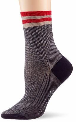 Tommy Hilfiger Women's Th Sock 1p Fine Rib Lurex Calf