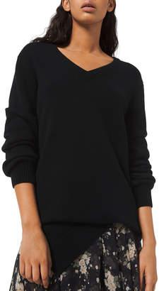 Michael Kors Cashmere Draped Asymmetric V-Neck Sweater