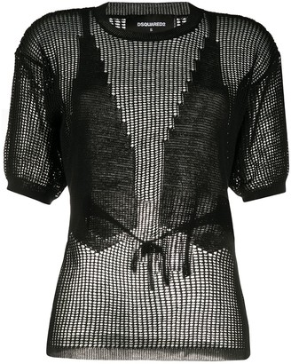 DSQUARED2 knitted mesh top