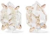 Melissa Joy Manning 14-karat Gold Herkimer Diamond Earrings - one size
