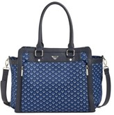 Armani Junior Infant Girl's Logo Nylon Diaper Bag - Blue