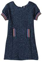Petit Lem Lurex Knit Dress (Toddler & Little Girls)