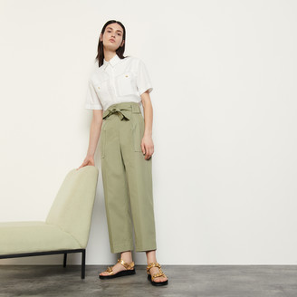Sandro Wide-leg trousers with tie belt