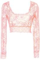 Dundas lace crop top