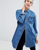 Lazy Oaf Frilly Hearts Denim Shirt