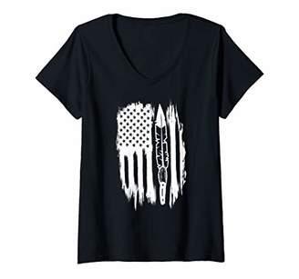Womens Native American Inspi Design for Tribes Lovers V-Neck T-Shirt