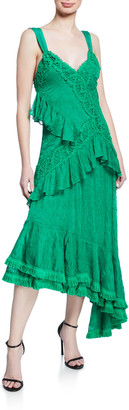 Alexis Bozoma Lace Ruffle Long Dress