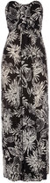 Black floral bandeau maxi dress
