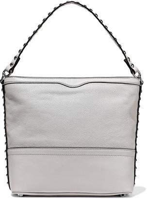 Rebecca Minkoff Blythe Studded Smooth And Textured-leather Shoulder Bag