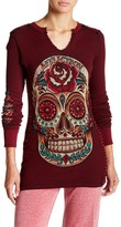 Affliction Sugar Skull Reversible Thermal Tee